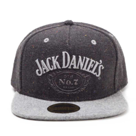 Jack Daniels - Snapback - Adjustable Cap - Tweet Look - Dark Grey Washed