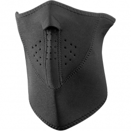 Neoprene Black 3-Panel Face Mask - BLACK - Zan HeadGear