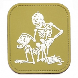 PVC & VELCRO PATCH- Skeletons fucking in Doggy Style - 3D