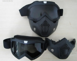 Shark-style - Full Face Mask with Goggles - SMOKE