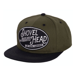 Biker Cap - KING KEROSIN SHOVELHEAD CAP GREEN/BLACK