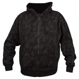 Hoodie with zipper - Dark Night Camo [Black/Charcoal]
