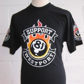 Support 81 - Westport - T-shirt 81-ball  - Hells Angels Support Wear
