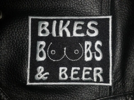 214 - Patch - Bikes Boobs Beer