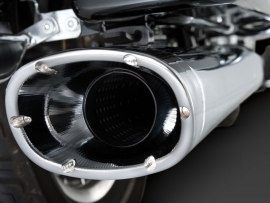 Vance & Hines Monster Ovals Slip-On Chrome Mufflers / chrome endcaps