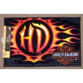 Harley Davidson Indoor Outdoor Licensed Rug FireBall