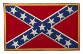 129 - PATCH - Confederate flag with stars - Rebel flag