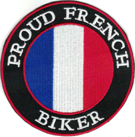 Patch - PROUD FRENCH BIKER with French flag - France