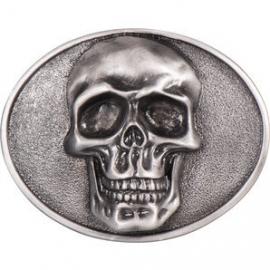 Belt Buckle - Skull in Oval - 3D