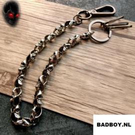Biker Wallet Chain - Skulls - 44cm
