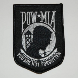 PATCH - Pow flag - POW MIA - YOU ARE NOT FORGOTTEN - Prisoner of war silhouette