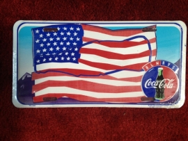 License Funny Plate - USA Flag Coca cola - Collector Item