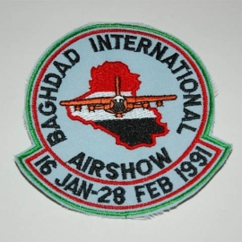 PATCH - BAGHDAD INTERNATIONAL AIRSHOW - 16 jan - 28 feb 1991