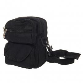 Small Travel Bag - Black - Shoulder or Belt