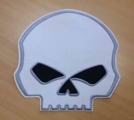 Large Patch - Willie G - White Skull - 22 cm wide!!