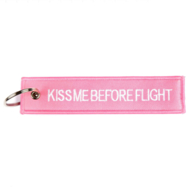 Keychain - Kiss  Before Flight - PINK!