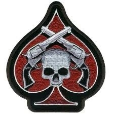 112 - Patch - Pistols Skull - Ace of Spades