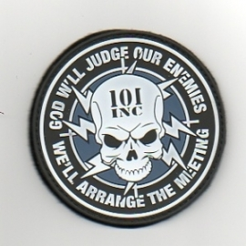 038 - Patch PVC - God will judge our Enemies - VELCRO