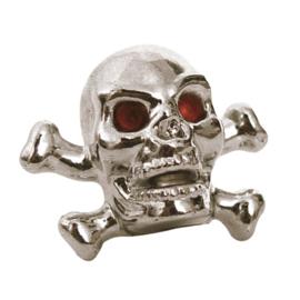 Valve Caps - Chrome Skull & Bones - Trik Topz