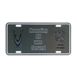 License plate Dutch Veteran