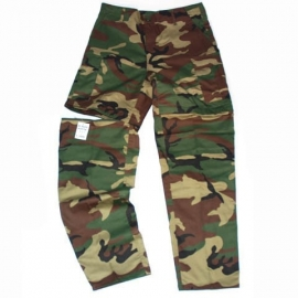 BDU Combat trousers - Zip Off! Woodland Camouflage