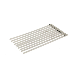 """EXHAUST TIE WRAPS 8"""" LONG CLEAR STAINLESS  (10x)"""