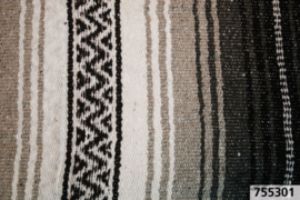 Mexican blanket - Black Grey White