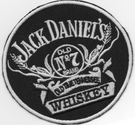 011 - Patch - Jack Daniels - Round 10cm - Old no.7 Whiskey