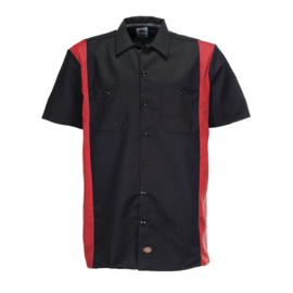Dickies - S/S work shirt - Black & Red - Limited Edition