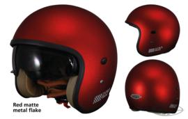 TORX  HARRY HELMET - RED matte metal flake - ECE - Small Shell!