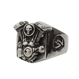 V2 Engine Ring - Skull