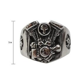 V2 Engine Ring - Skull