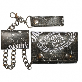 JD's Wallet with chain / beltloop - Jack Daniels