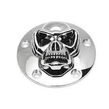 Skull Point Cover - CHROME - TWINCAM (5 holes)