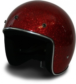 HCI Helmet - Mega Metal Flake - DOT - Red
