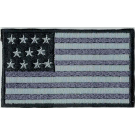 GREY PATCH - American flag - Stars and stripes - USA [medium]