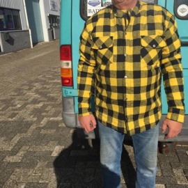 Protective LumberJack Shirt - Black & Yellow Checker - Motorshirt
