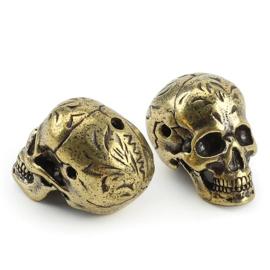 Brass Skull - Heavy - Craneum - aprox 30mm - Vintage
