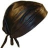 Bandana Cap - Black Leather