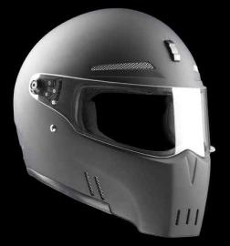 Bandit Alien 2 Flat Black Streetfighter Helmet ECE 22.05