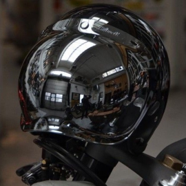 Biltwell Jet - Bubble Visor - Chrome Mirror / Smoke Tint