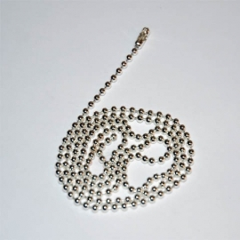 Dog Tag Chain - Silver - Long