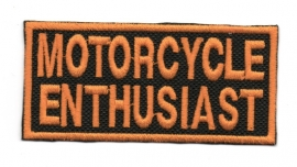 Patch - FREE GIFT - GRATIS - Motorcycle Enthusiast - Black & Orange