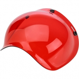 Biltwell Jet - Bubble Visor - Red - Bubble Shield