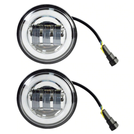 4,5 inch LED - HALO passinglights - (2 pieces)