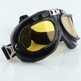 Goggles - RAF / Red Baron style - Gold Chrome Lens