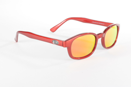 Sunglasses - Classic KD's - FIRE - Red Frame & Red / Gold Lens