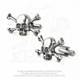 Alchemy England - Skull N Bones Stargazer- Cufflinks