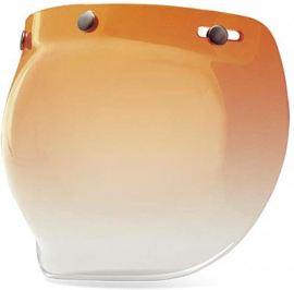 Bubble Visor - Brown Amber Gradient - Bubble Shield for Jet Helmet