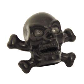 Valve Caps - Black Skull & Bones - Trik Topz